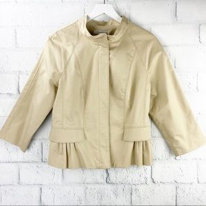 Kenneth Cole Tan Pleated Blazer Jacket